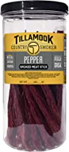 Tillamook Country Smoker All Natural, Real Hardwood Smoked Pepper Sticks 1lb Resealable Jar, 20 Count