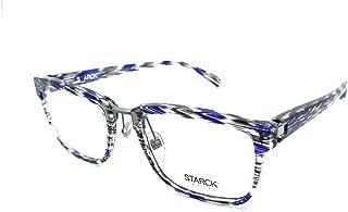 Starck Eyes Mikli Rx Eyeglasses Frames SH3044 0002 55-21-145 Blue Grey Striped
