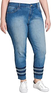 Tommy Hilfiger Women's Plus Size Greenwich Embellished Skinny Jeans Indigo Fade 22W