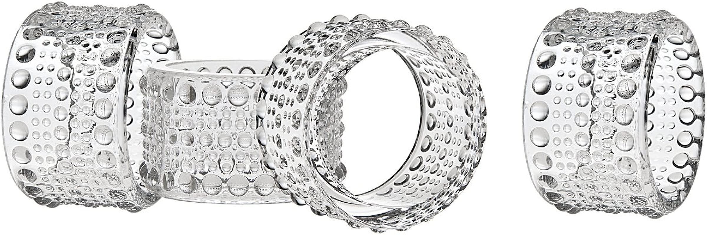 Godinger Silver Art Lumina Set Of 4 Napkin Rings Lumina Napkin Rings