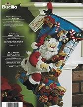 Bucilla 86165 Bota de Navidad con aplicación de Fieltro, 45,72 cm, diseño de Paseo navideño