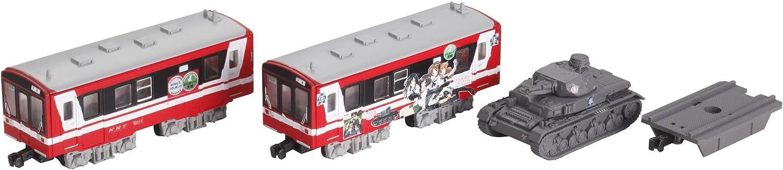 B Train Shorty  Kashima Rinkai Railway Series 6000, Girls und Panzer Wrapping Train (Panzerkampfwagen IV + 2Car) (Model Train)
