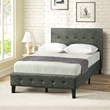 Harper&Bright Designs Wood TwinUpholsteredBedFrame with Headboard and Footboard, Strong Wooden Slats, No Box Spring Needed