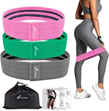 FUUNSOO Resistance Bands Fabric Non-Slip Exercise Bands for Legs and Butt, Wide Workout Bands for Home Fitness, Strength T...