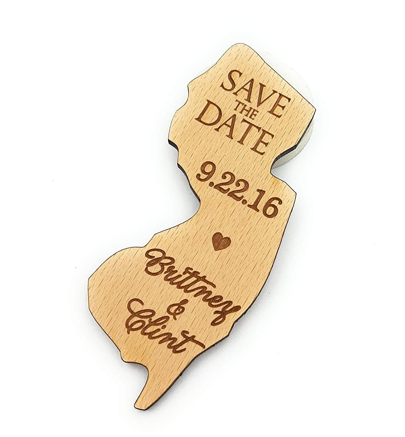 Wooden save the date magnets state US dates ru Great interest Free shipping shaped