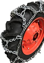 TireChain.com 20.8-38, 20.8 38 Duo Grip Tractor V-BAR Tire Chains Set of 2