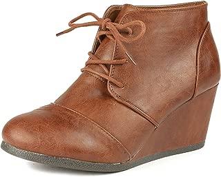 Women's Fashion Casual Outdoor Low Wedge Heel Booties Shoes