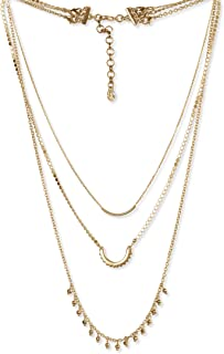 Lucky Brand Beaded Chain Lucky Layer Necklace, Gold