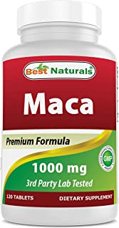 Best Naturals Gelatinized Maca 1000mg per Tablet (Non-GMO), Supports Reproductive Health, Mood, Hormonal Ba...