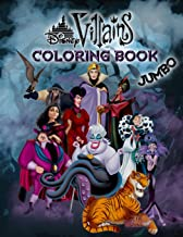 Disney Villains Coloring Book: Disney Villains Jumbo Coloring Book For Kids Ages 3-8