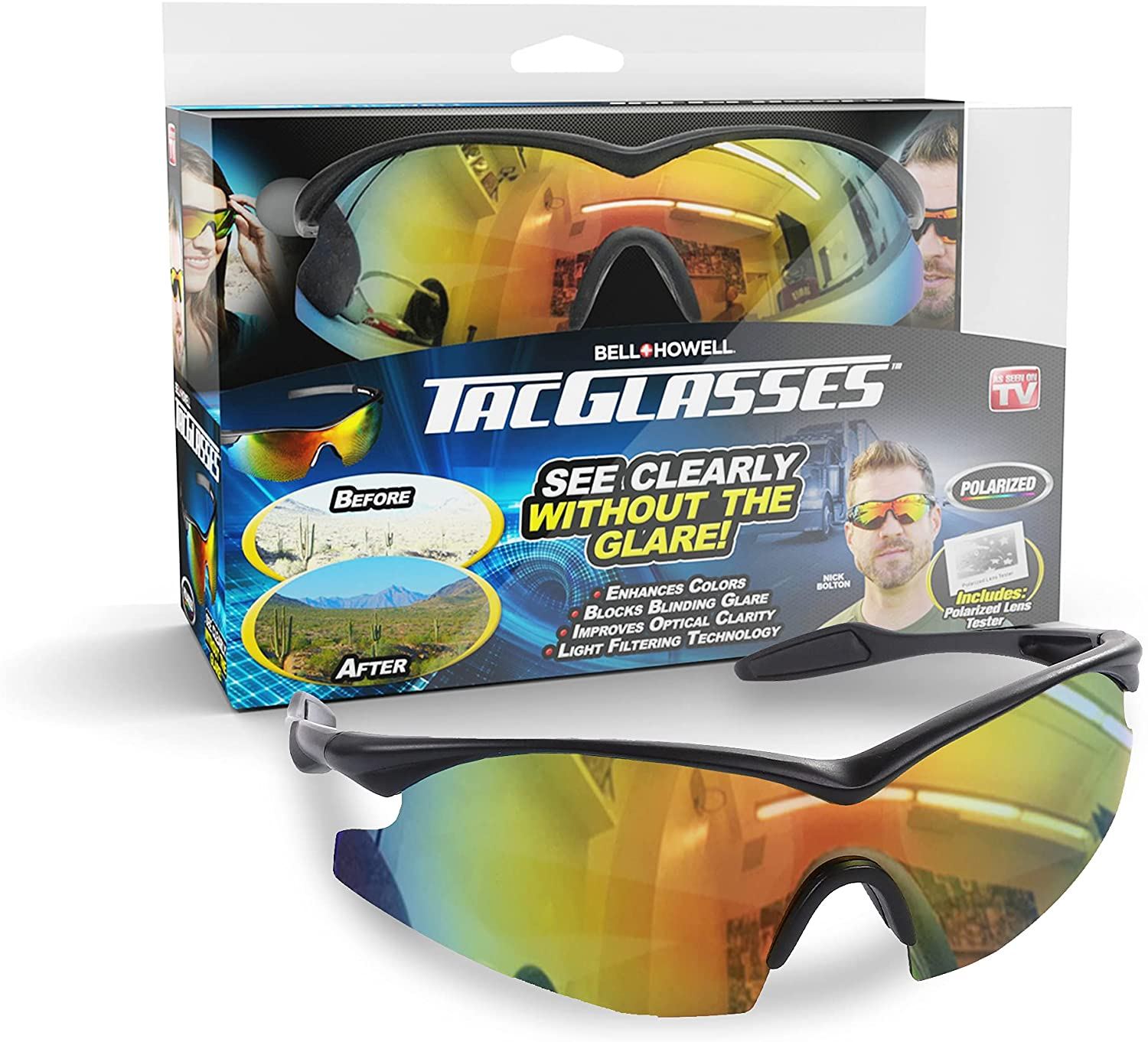 Max 60% OFF Tacglasses Polarized Sports Sunglasses Golfi 2021 new Safety For Driving