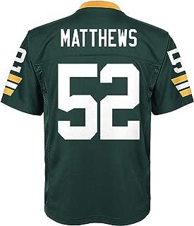 Franklin Sports #52 Clay Matthews Green Bay Packers Football Player Jerseys for Men Kid Women