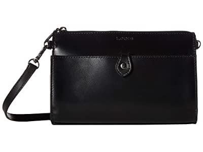 Lodis Accessories Audrey RFID Vicky Convertible Crossbody Clutch (Black/Black) Clutch Handbags