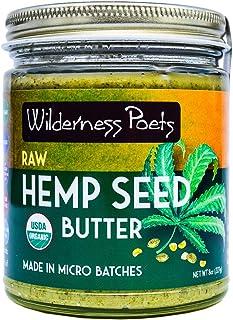 Wilderness Poets Hemp Seed Butter - Organic, Raw, Seed Spread (8 Ounce)