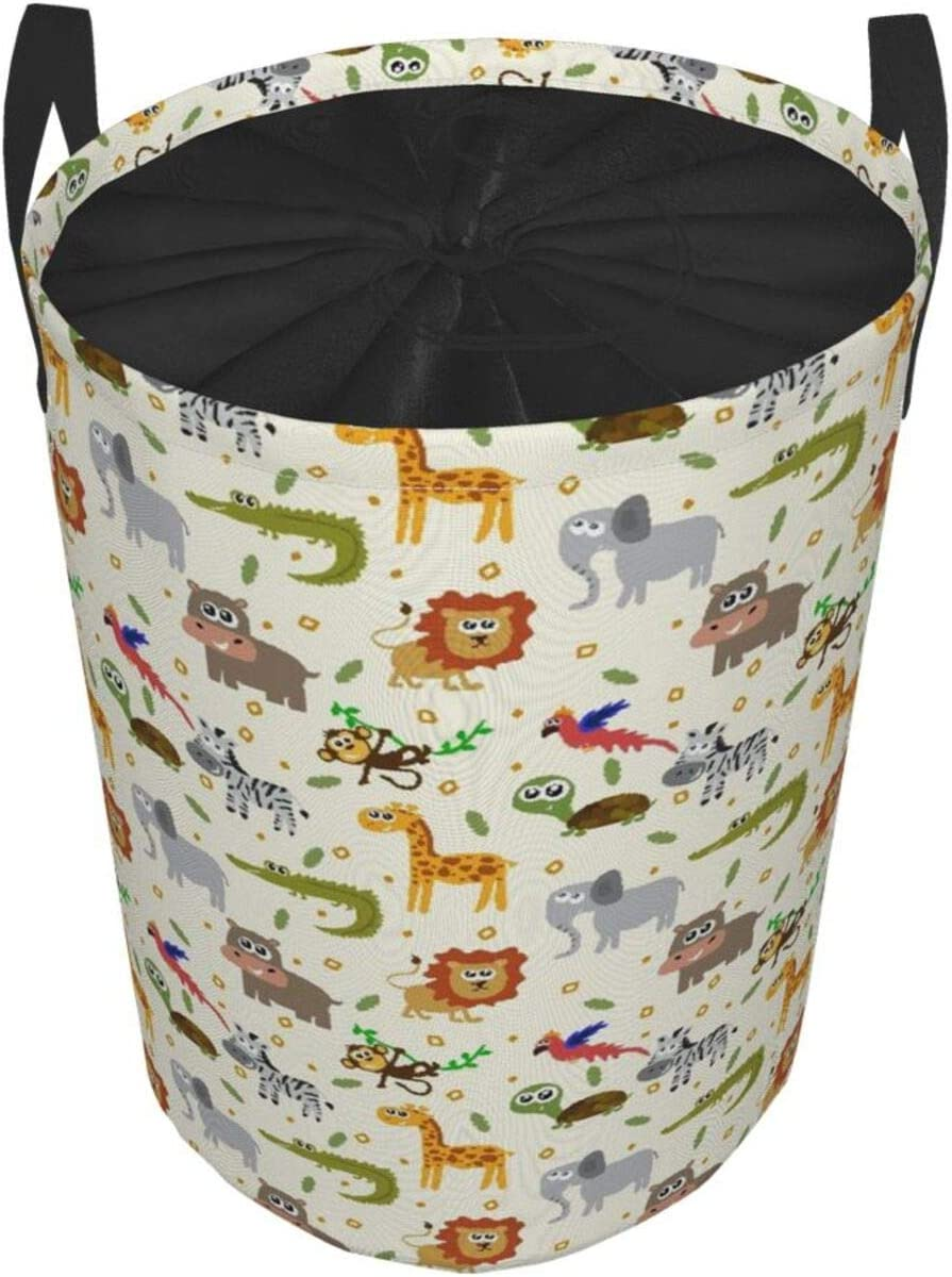 Large Storage Baskets,Cherry Blossoms Illustration On Canvas Vintage Background,Drawstring Waterproof Round Collapsible Laundry Hamper for Dirty Clothes Toy Home Office 19X14