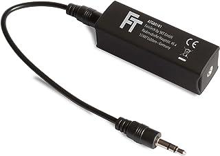 FeinTech ATG00101 Audio massa-scheidingselement mantelstroomfilter, 3,5 mm jack elimineert brommen zwart