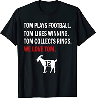 New England Football GOAT 12 Greatest All Time Football T-Shirt