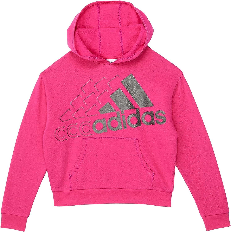 adidas Girl's BOS Echo Fleece Hooded Pullover (Big Kids)