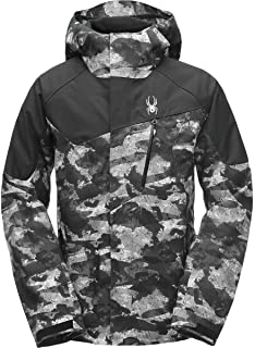 SPYDER Men's Jagged Shell Gore-TEX Waterproof Hooded Jacket for Winter Sports