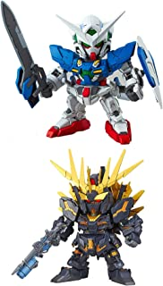 2 Bandai SD EX-Standard Gundam Assembly Models - Unicorn Banshee Norn (Destroy Mode) RX-0 & EXIA GN-001 (Japan Import)