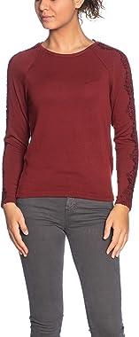 Only Onltinna L/S Crochet Top JRS Sweat-Shirt Femme