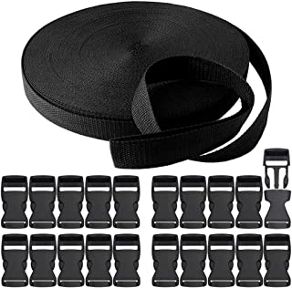 20 MM, 50 St/ück RETON Schwarze Verstellbare Schnallen aus Kunststoff Schnallen