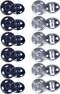 Metal,Botones de Presion para Ropa Bolsos Pantalones y Manualidades-astilla/_18MM 100PCS Broches de Pressi/ón