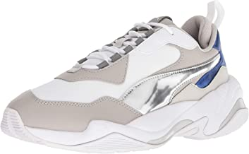 PUMA Women's Thunder Electric Sneakers, Puma White/Grey Violet/White, 9.5 Medium US