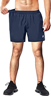 Roadbox Mens Running Shorts 5 Inch Quick Dry Gym Athletic Workout Traning Tennis Shorts with Liner and Zipper Pocket