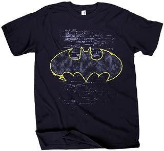Batman Signal Logo Hombres Black Camiseta
