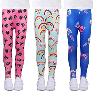 Sponsored Ad - LUOUSE Printing Flower Girls Stretch Leggings Kids Ankle Length Pants Tights