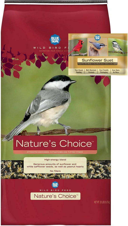 BLUE Ranking TOP16 SEAL Nature's Choice Mix Suet Sunflower Bird Seed Finally popular brand Ca