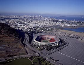 San Francisco, CA Photo - Aerial view of Candlestick Park, home stadium of the San Francisco 49ers National Football League professional team, with downtown in the distance - Carol Highsmith