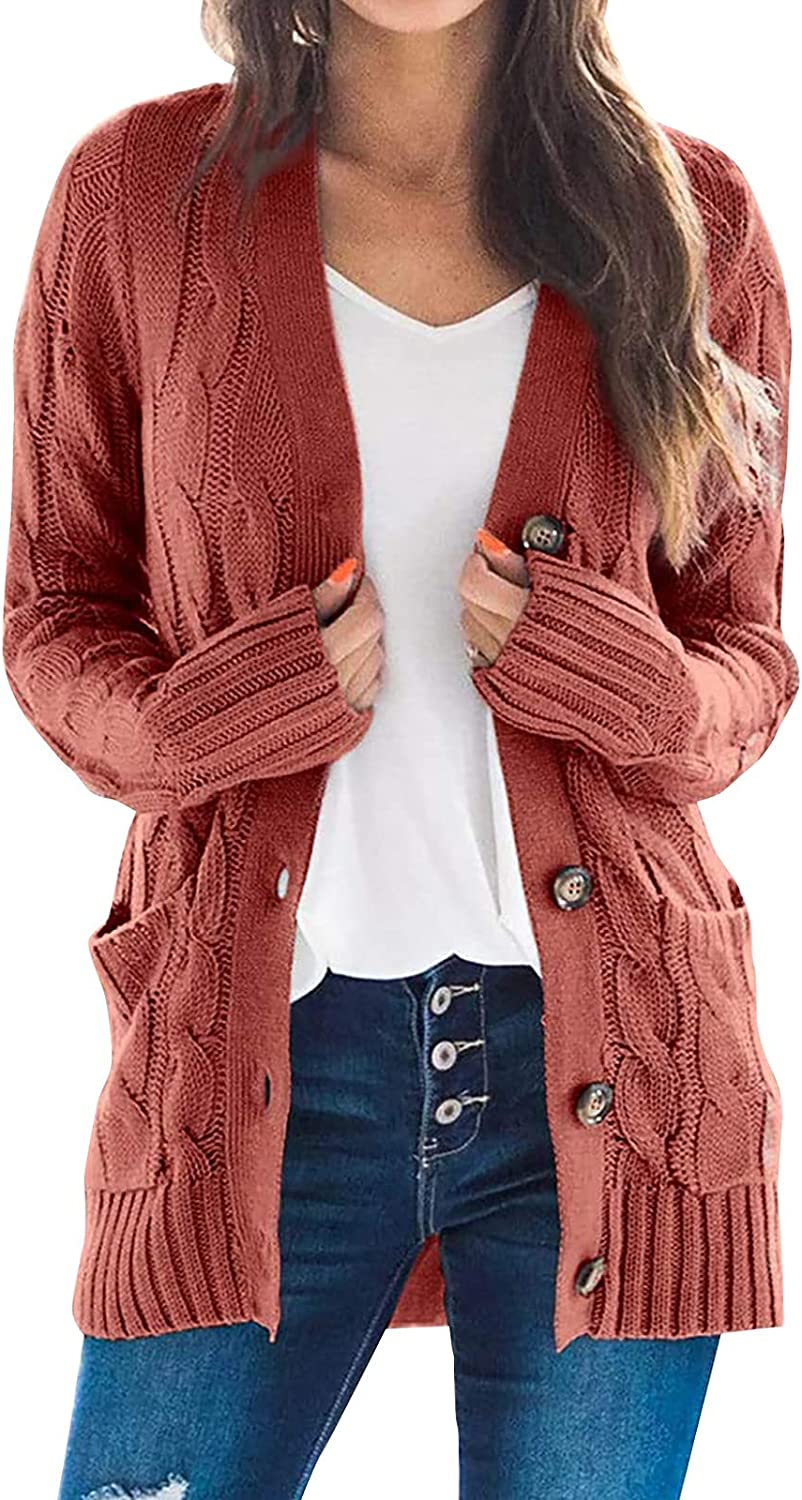 LEXUPA Cardigans/Sweaters/Pullovers/Hoodies,Womens Boho Patchwork Cardigan Long Sleeve Open Front Knit Sweaters Coat Pockets