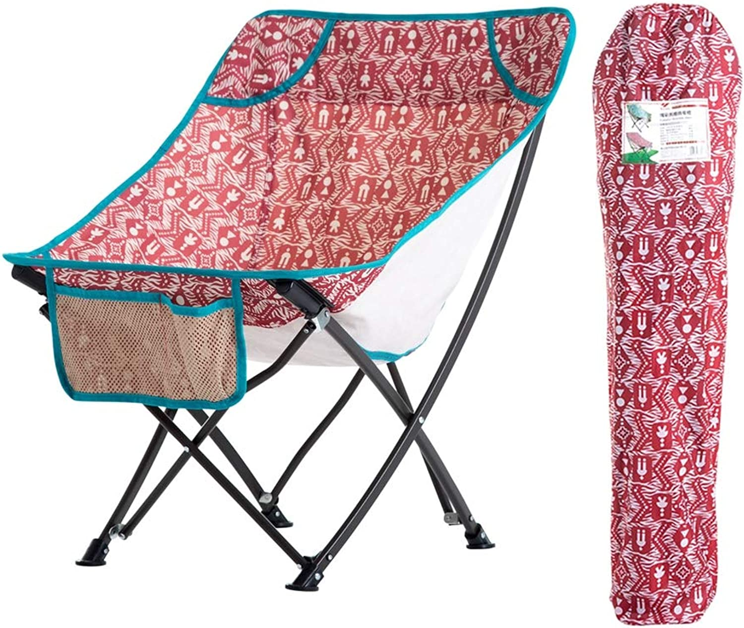 Foldable Chairs with Bag for Adults–Portable, Durable, Collapsible, for Sports, RV Camping, and Fishing,Red