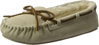 Women's Cally Faux Fur Slippers, Suede Moccasin Slippers for Women