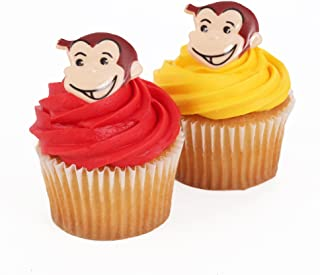 Curious George 24 Cupcake Topper Rings