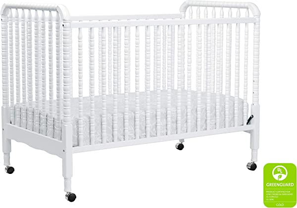 DaVinci Jenny Lind 3 In 1 Convertible Portable Crib In White 4 Adjustable Mattress Positions Greenguard Gold