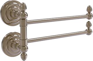 Allied Brass QN-GTB-2 Que New Collection 2 Swing Arm Towel Rail, Antique Pewter