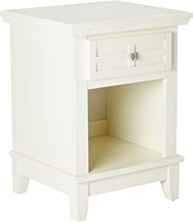 Arts & Crafts White Nightstand by Home Styles
