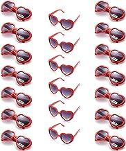 Amosfun Amour Coeur Lunettes de Soleil Coeur Rouge Verres d/écoratifs Party Favors Habiller Costume Lunettes Saint Valentin Lunettes de Mariage Cadeau f/ête Accessoires Photo 9pcs