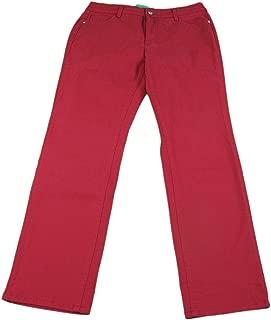 Bandolino Jeans Ladies Size 10 Caroline Slim Straight Jeans Scarlet Red
