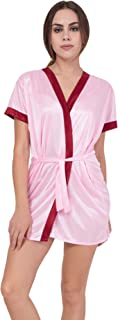 American-Elm Women's Pink Baby Doll Night Gown