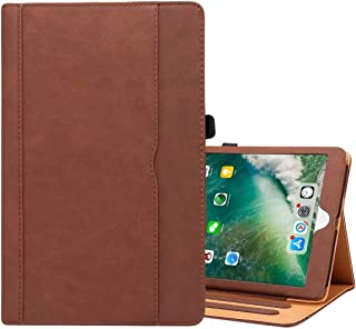 LFPING New for iPad 9.7 (2018) & iPad 9.7 inch (2017) & iPad Air 2 & iPad Air Cowhide Pattern PC Protective Case (Color : Brown)