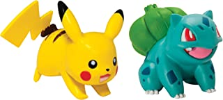 Pokémon 2 Pack Small Figures, Pikachu And Bulbasaur