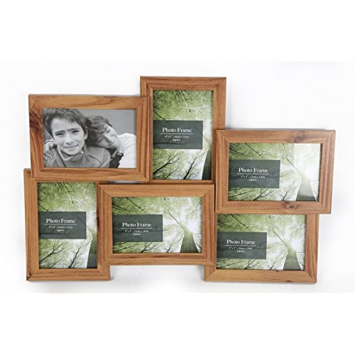 04e1189a0a5 6 Multi Picture Collage Family   Friends Pine Wall Photo Frame Birthday