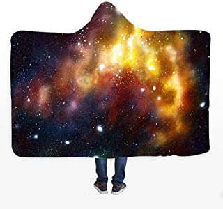 TBDLG Starry Sky Hooded Blanket,Windproof Child Plush Adult Personality Cloak Hooded,with Bathrobe Windproof,for Reading in Bed or Reading a Book on The Sofa Watching TV,110150