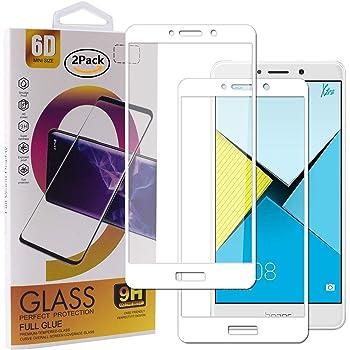 SDTEK Huawei Honor 6X (Blanco) Cobertura Completa Cristal Vidrio ...