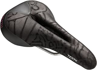 Terry Butterfly Ti Saddle for Women - Wider Rear for Great Sit Bone Support; Cut Away Through The Nose and Midsection, Flexible and Comfortable - Black