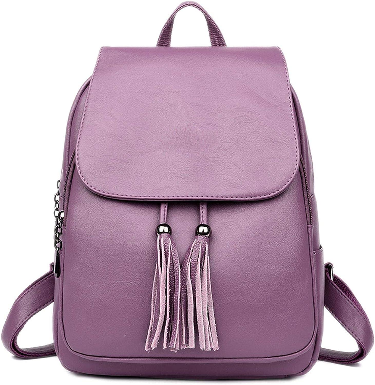 Women Backpacks Women's Leather Backpacks School Backpack,Purple